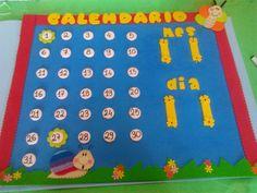 EL ARTE DE EDUCAR: CALENDARIOS CON GOMA EVA