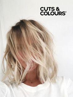 Messy Blonde Bob | CUTS & COLOURS