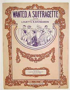There are two main categories of suffrage music, rally songs and parlor music. Rally songs generally consisted of women's rights lyrics adapted to the melodies of popular songs. Alice Paul, Suffragette, Vintage Sheet Music, Music Covers, Women In History, Powerful Women, Strong Women, To My Daughter, Songs