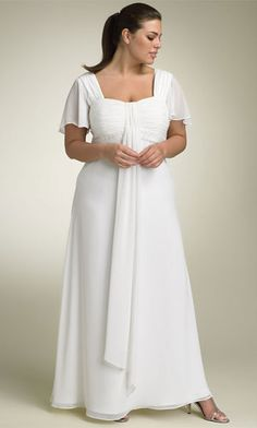 And the winner is.....This one!!! I got this dress in an off white/ivory color from Romans. LOVE IT!