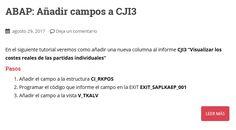 Manual SAP/ABAP para añadir campos a CJI3 Manual, Country, Textbook