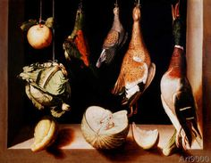 Giclee Print: Still Life with Game Fowl, by Juan Sanchez Cotan : Prado, Still Life Game, Juan Sanchez Cotan, Hans Baldung Grien, Infinite Art, Game Fowl, Museum Studies, Spanish Painters, Art Institute Of Chicago