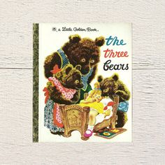 New in The Book Cottage: Goldilocks and The Three Bears | Vintage Fairy Tale Book The Three Bears | A 1990s Little Golden Book Children's Bookshelf Read | Kids Folk by TheBookCottage