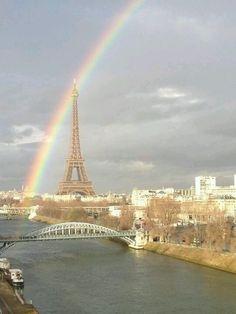 ~ Arc En Ciel Over The Eiffel Tower - Paris - France