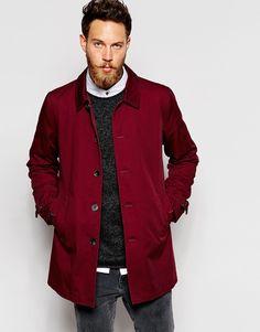 ASOS - Trenchcoat - Rot auf Stylelounge.de