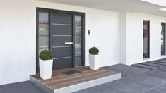 Need a new garden or home design? You're in the right place for decoration and remodeling ideas.Here you can find interior and exterior design, front and back yard layout ideas. Modern Entrance Door, Modern Exterior Doors, Modern Front Door, Front Door Entrance, House Front Door, House Doors, House Entrance, Exterior Design, Contemporary Front Doors