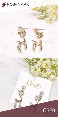 """🦌 My """"Deerest"""" Earrings 🦌 All Pictures, Monitor, Women Jewelry, Place Card Holders, Pairs, Change, Display, Colors, Earrings"""