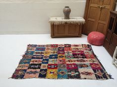 kids room rug, Tribal Azilal Rug Azilal 4x6 Moroccan 100% Authentic Berber Boucherouite Carpet Rug Wool Beni ourain Ourain Vintage moroccan