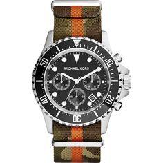 da3c38db236 Amazon.com  MK8399 Michael Kors Everest Grosgrain Mens Watch  Watches  Michael Kors Homem