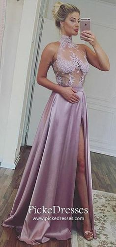 Long Prom Dresses For Teens,Purple Formal Evening Dresses with Slit,A-line Military Ball Dresses Lace,High Neck Pageant Graduation Party Dresses Satin Tulle Elegant Prom Dresses, A Line Prom Dresses, Cheap Prom Dresses, Dresses For Teens, Homecoming Dresses, Formal Dresses, Party Dresses, Dress Prom, Graduation Dresses