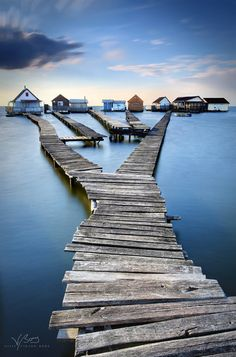 My way home - Wooden paths to houses on water