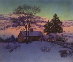 """Maxfield Parrish """"Afterglow, A New Day"""" 1947"""