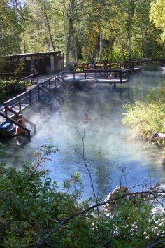 Liard Hot Springs - For a most heavenly experience, soak in the hot pools, surrounded by the greenery of this unique ecosystem. Stroll the boardwalk through warm water marshes where moose make a regular appearance, and where hundreds of plant and bird species flourish. If you are travelling in the winter months, soak in the pools surrounded by snow and watch the northern lights dance above your head.