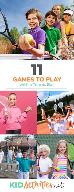 11 Fun Tennis Games for Kids [Tennis Drills for Kids] – Kid Activities A collection of fun games to play with a tennis ball. Great for gym class or games to keep kids buys in the summer. Outdoor Fun For Kids, Outdoor Games For Kids, Fun Games For Kids, Games To Play, Activities For Kids, Kids Fun, Tennis Games, Play Tennis, Tennis Party