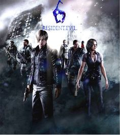 (From Left): Piers Nivans, Chris Redfield, Leon Scott Kennedy, Sherry Birkin, Jake Muller, Ada Wong, Helena Harper