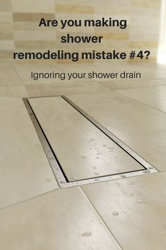 Shower drains aren& sexy - but they can (and do) make for a better shower project. This linear drain can help you avoid shower maintenance and make your shower more useful. Click through to learn how. Cheap Bathroom Remodel, Cheap Bathrooms, Bathroom Renovations, Tub To Shower Remodel, Tub Remodel, Bathroom Makeovers, Luxury Bathrooms, Small Bathrooms, Big Shower
