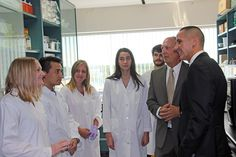 Minister Kevin Chief (Manitoba Minister of Jobs and the Economy) tours the Albensi Lab
