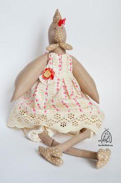 Chicken Tilda, Toys, Handmade, Custom dolls