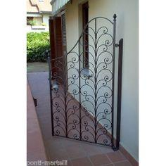 Wrought Iron Pedestrian Gate. Customize Realisations. 076 Pedestrian, Wrought Iron, Gate, Divider, Doors, Furniture, Home Decor, Apartments, Beach