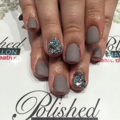 """""""New Nails idea this weekend.  Add texture with a #matte top coat on your favorite shade and accent with some sparkles!  #nailswag #nailart #naildesign #nailsokc #okcnails #yukonsbest #okcBest #okc #nails #bestnailsalon #getpolished #bestManiPedi #BestFacial #polishednailsok #getPamperedAtPolished"""" Photo taken by @polishednailsok on Instagram, pinned via the InstaPin iOS App! http://www.instapinapp.com (04/11/2015)"""