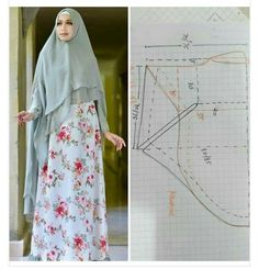 Muslim Dress, Hijab Tutorial, Hijabs, Couture, Fasion, Veil, High Waisted Skirt, Sewing Patterns, Scarves