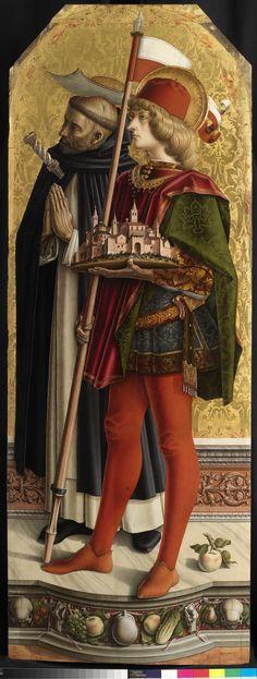 Carlo Crivelli - Santi Pietro martire e Venanzio - pannello Trittico di Camerino (Polittico di San Domenico di Camerino) - 1482-1483 - Pinacoteca di Brera, Milano
