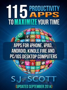 Productivity apps ebook. Get things done with some of the top applications for andriod, kindle, pc, iphone and ios #productivity #ebooks #GTD