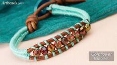 Colorful Herringbone Thread Wrapped Bracelet Tutorials ~ The Beading Gem's Journal