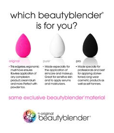 Which beautyblender is for you?  #Sephora