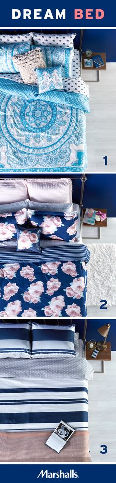 What's your bedding personality? 1) Boho chic 2) Romantic florals or 3) Classic…