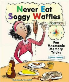 Mnemonic devices- I learned my compass rose by never eating soggy waffles