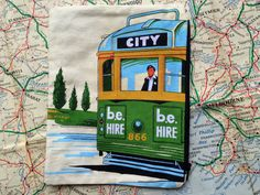 Retro Melbourne Tram souvenir pencil case, Melbourne Tram pouch, Souvenir pouch, Melbourne Tram passport holder, Handmade pencil case, Pouch by RetroMementos on Etsy