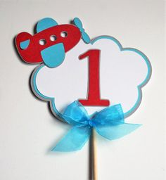 Airplane Cake Topper by ALittlePaperHouse on Etsy