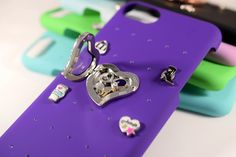 Animal: 4 Charm Starter Kit, iPhone case, purple iPhone case, snap on charms, snap on locket, choose your charms, choose your locket, choose your case color, floating charms, animal floating charms, animal locket charms, hedgehog charm, giraffe charm, iPhone 6 case, iPhone 7 case, iPhone 8 case #iphonecasecharms #cutephonecharms #uniqueiphonecase #animalphonecase