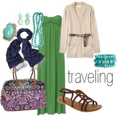 i need to take a trip somewhere warm to wear this outfit. i love green and turquoise
