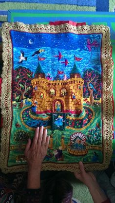 Needle work by Corinna Sargood Childhood Stories, Fairytale Art, Creative Inspiration, Needlework, Fairy Tales, Fantasy, Illustration, Cloths, Creativity