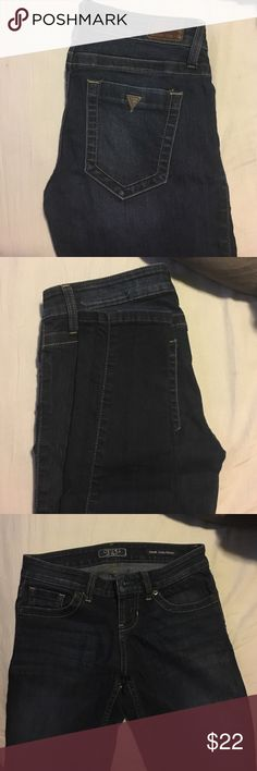 Womens Size 26 Guess Skinny Dark wash Jeans Womens Size 26 Dark Denim Jeans. Ultra Skinny. Good Condition Guess Jeans Skinny