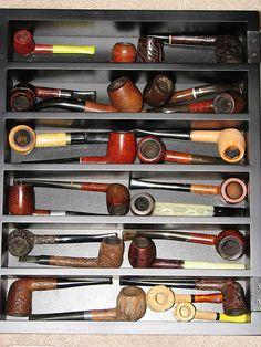Vintage Tobacco Pipe Collection VI, Tobacciana Items.