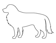 Border Collie pattern. Use the printable outline for crafts, creating stencils, scrapbooking, and more. Free PDF template to download and print at http://patternuniverse.com/download/border-collie-pattern/