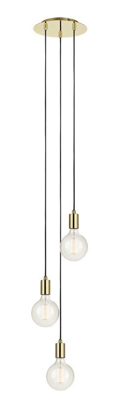 Sky taklampa i metall från Markslöjd. Takskena i metall med textilklädda 1,5m kablar. Stor lamphållare (E27) Max 60W eller motsvarande i halogen, lågenergi eller LED. Ljuskällor ingår ej.  #pendel #light #lamp #lampa #markslöjd #sky  #interior #interiör #inspiration