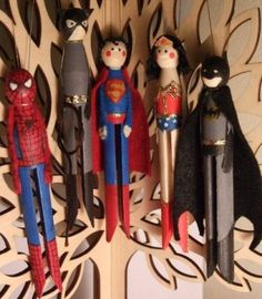 The Vampire Database - Superhero Dolly Peg Decorations - Vampire Rave.