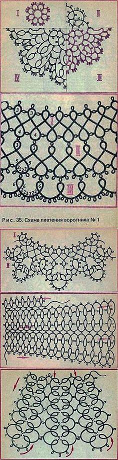 Scheme guler țesute »Eajenshina.ru - cel mai popular site-ul printre soțiile | tatting | postare