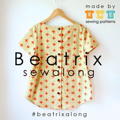 A Beatrix sewalong! Sew this button-back top and get tons of tips and tricks in the process.   #beatrixalong