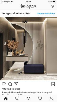 Home Room Design, Dream Home Design, Home Interior Design, Interior Decorating, House Design, Home Entrance Decor, House Entrance, Bathroom Design Luxury, Bathroom Interior