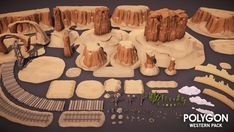 Synty Studios Presents - A low poly asset pack of characters, props, weapons and environment assets to create a Western themed polygonal style game. Modular sections are easy to piece together in a variety of combinations. Includes a demo scene 305 unique assets with x4 alternative texture colors. Assets include: - Church x1 - Cover x1 - Deck Steps x1 - Door x1 - Double Buildings x2 - Double_Balcony x2 - Double Balcony Stairs x1 - Double Building Deck Cover x2 - Double Building Deck x4...