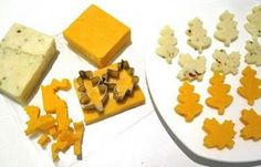 Easy Thanksgiving Appetizer clever cut cheese with small cookie cutters ...