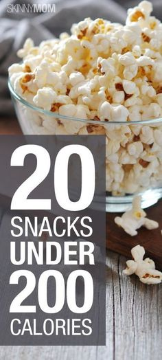 20 snacks under 200 calories! No guilt here ;)