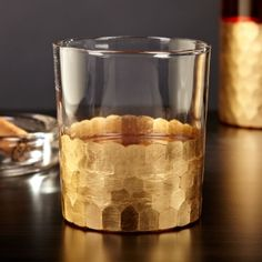 Your fine liquor deserves a fine glass, so sit back and enjoy a Cuban and a sip of whiskey on the rocks with our gold leaf whiskey rocks glass. Featuring a straight glass base with magnificent gold leaf plating around the base, this whiskey rocks glass wi Le Gard, Good Whiskey, Whiskey Girl, Whiskey Glasses, Fun Drinks, Gold Leaf, Gold Foil, The Rock, Liquor