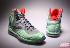 nike hyperposite mint grey red 6 Nike Hyperposite   Mint   Grey   Red