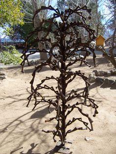 Railroad spike tree